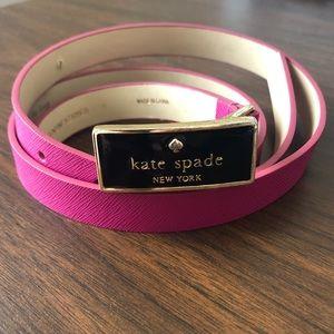 Kate Spade Logo Belt Pink Leather